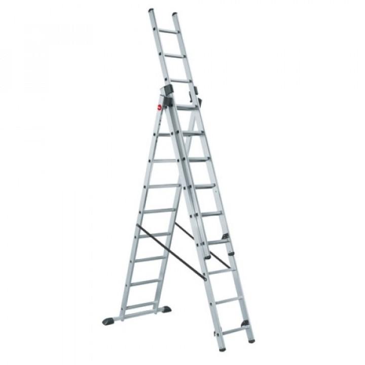 Лестница трехсекционная алюминиевая 3х7 LWI