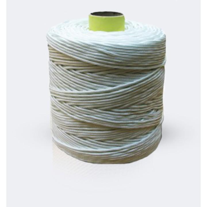Веревка Ф6 крученная (белая) 500м в бабине