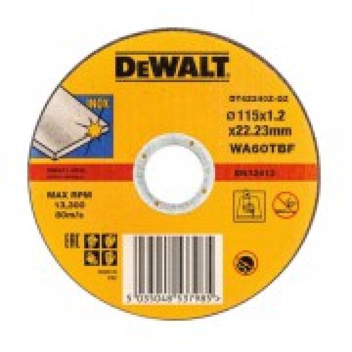 DeWalt Диск отрезной по п/мет. INDUSTRIAL 125х1,2х22,23 тип1
