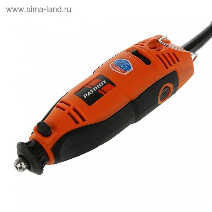Гравер электрический PATRIOT EE 160 с гибким валом, 160Вт, 40 насадок в копм.