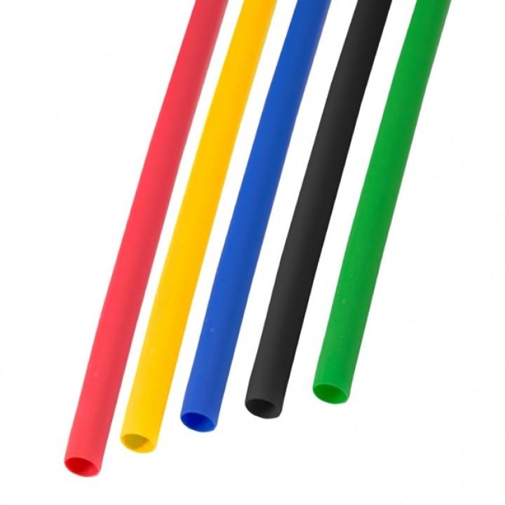 Набор термоусадочной трубки 6,0 / 3,0 мм 1м пять цветов REXANT