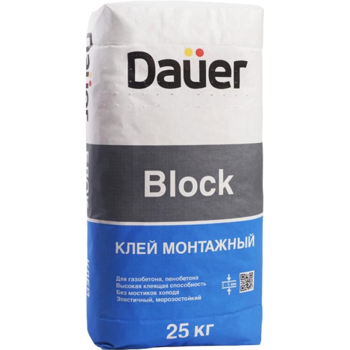 Клей монтажный для пеноблоков Dauer Block 25кг
