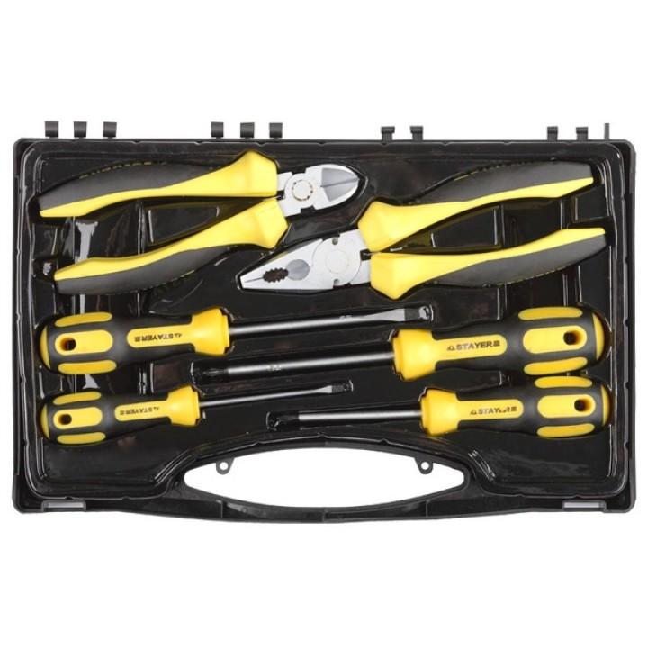 """Набор слесарно-монтажного инструмента STAYER """"PROFI"""" ULTRA:4 отвертки,плоскогубцы и бокорезы 6предм."""