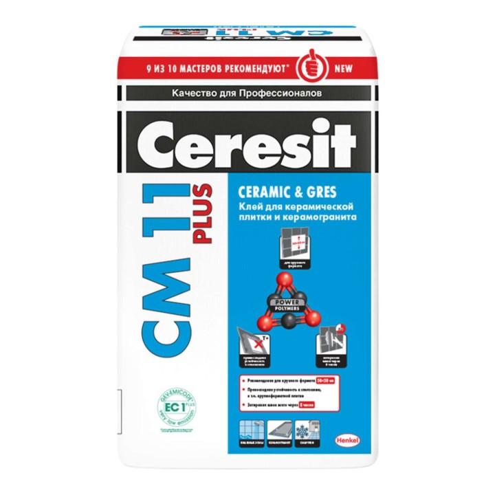 Клей для плитки и керамогранита Ceresit CM 11 Plus 25кг
