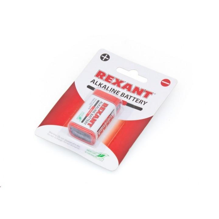 Алкалиновая батарейка Крона 6LR61 9V 600mAh блистер REXANT