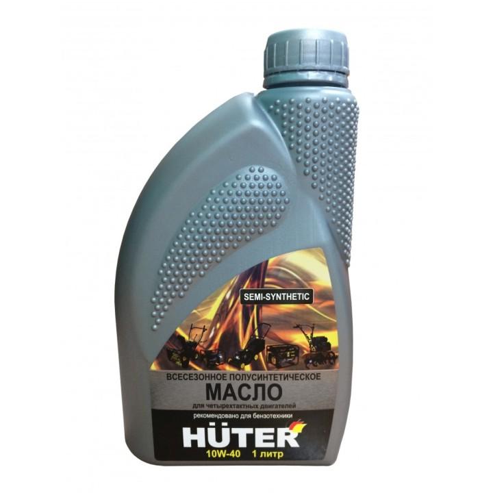 Масло моторное 10W-40 полусинтетическое для 4-х тактных двиг. Huter 1л