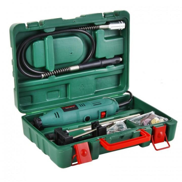 Гравер (мини) Hammer Flex MD135A 135Вт гибкий вал 2,4-3,2мм 32000об/мин кейс+насадки 41шт