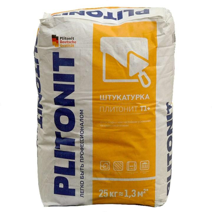 Штукатурка Плитонит Т1+ цементная 25кг