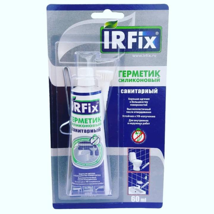 IRFix Герметик силиконовый санитарный бесцветный 60мл.