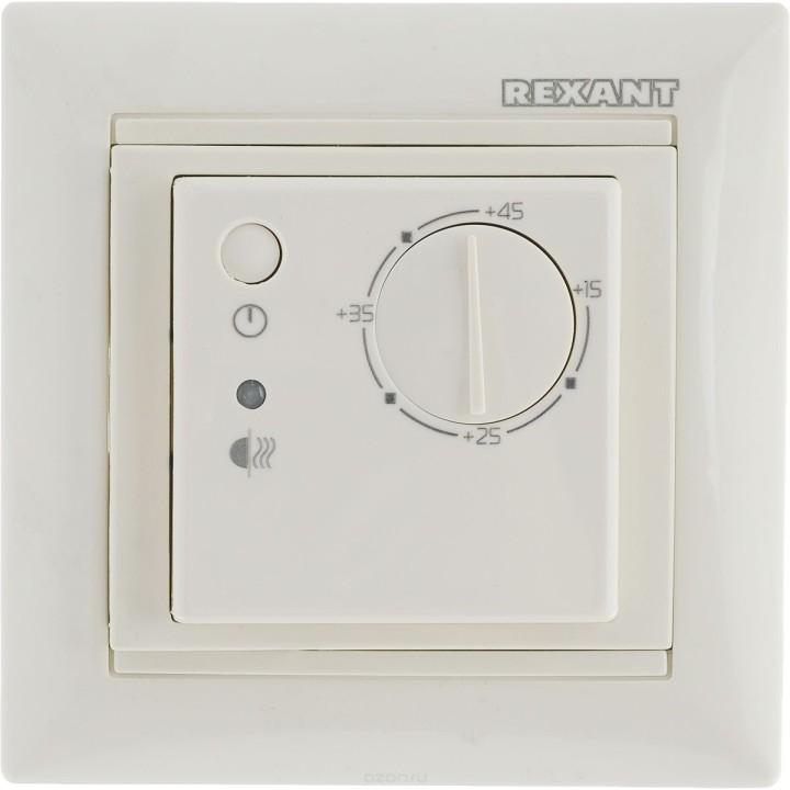 Терморегулятор механический RX-308B белый REXANT совместим с Legrand Valena