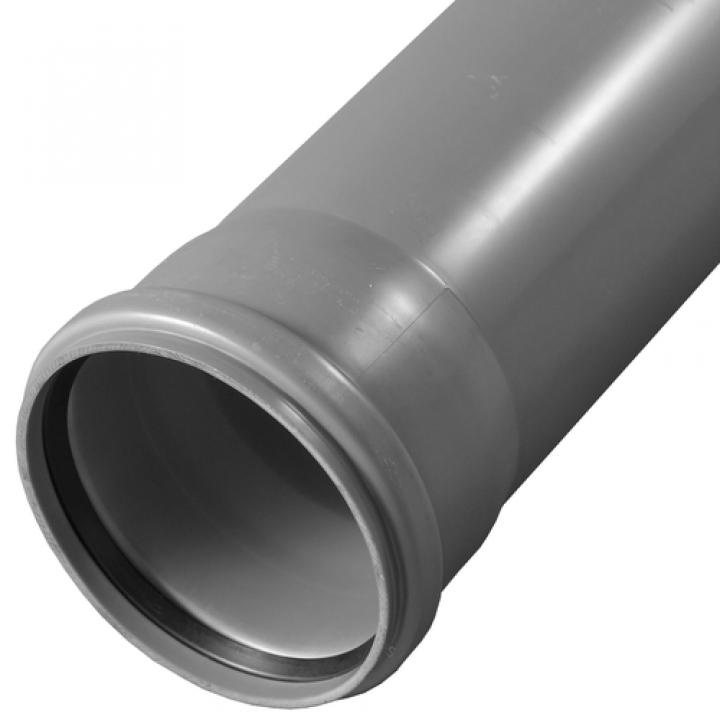 Патрубок PP-H переходной серый Дн 110х50х45гр б/нап в/к САЗ